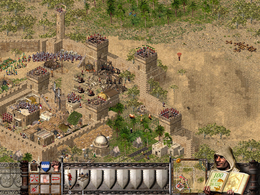 A large element of Stronghold Crusader is designing your castle and creating your defenses.