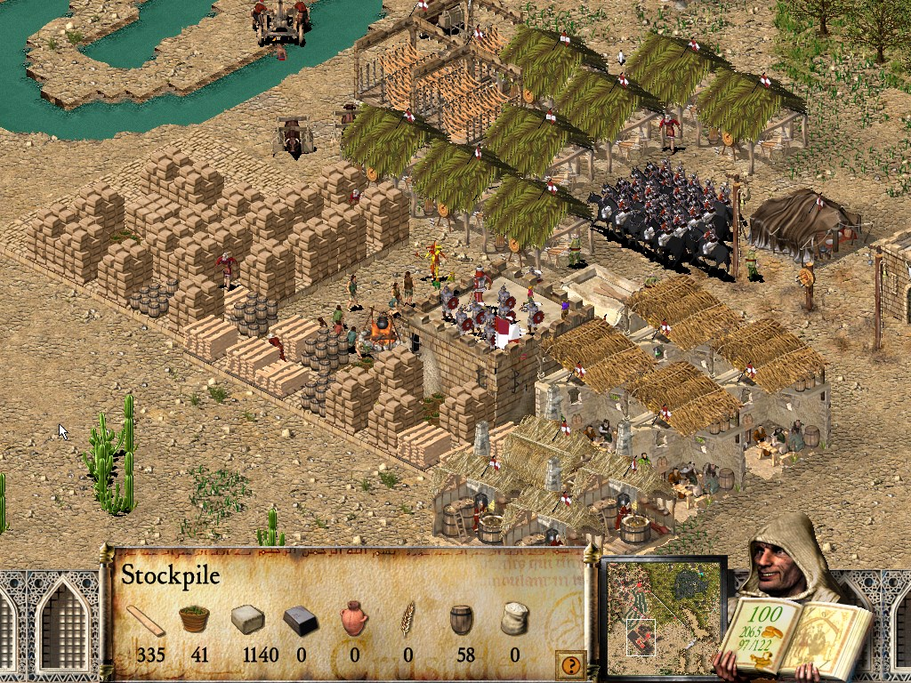 Resources like stone and iron might need to be mass-produced to fund later warfare against unforgiving enemies.
