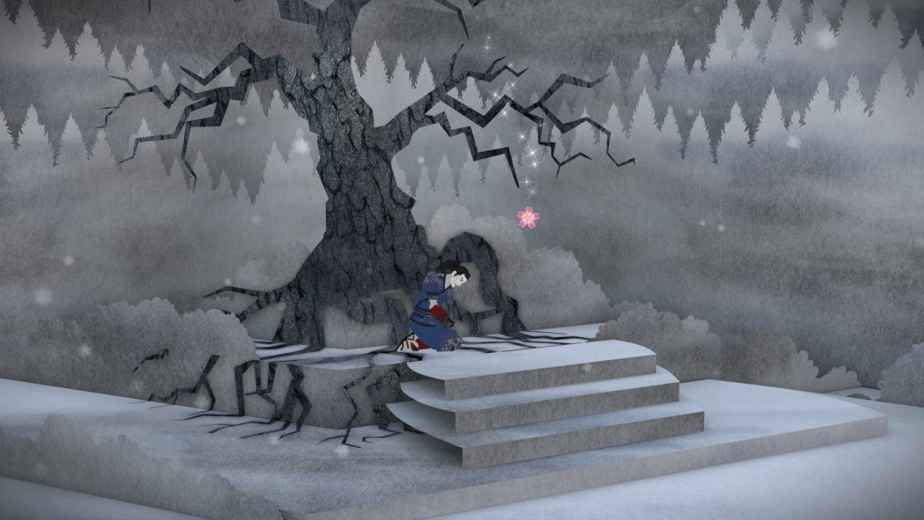 Tengami is.. beautiful. The graphics are undeniably Tengami's biggest strength and offers several superb and extremely atmospheric environments; all of which is greatly accompanied with the otherwise minimalistic audio.